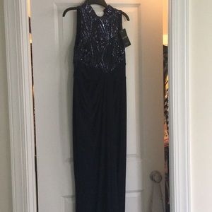 Ralph Lauren navy evening dress  size 2p